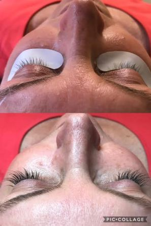 Before and After Classic Full Set of NovaLash Extensions